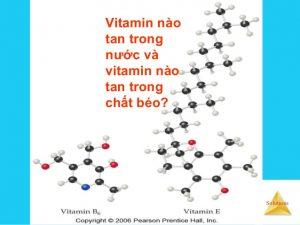 vitamin tan trong dung dich nao