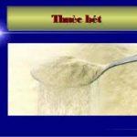 đánh giá cảm quan về thuốc bột